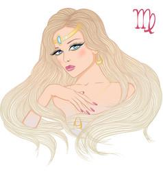 astrological sign virgo as a beautiful girl vector image