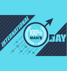 banner mens day vector image