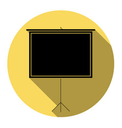 Blank projection screen flat black icon vector
