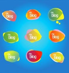 Blog elements vector