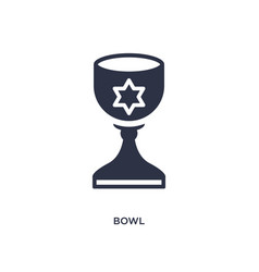Bowl icon on white background simple element from vector