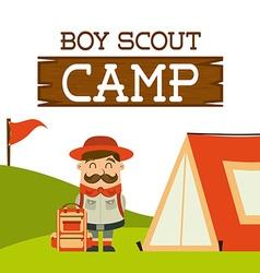 Camping concept vector