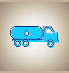 Car transports oil sign sky blue icon vector