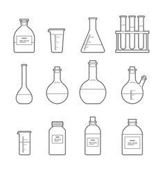 chemical glassware icon vector image