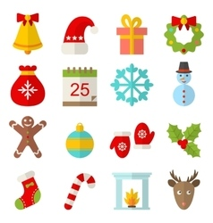 Christmas and Winter Traditional Symbols vector image