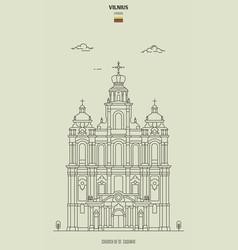 church st casimir in vilnius vector image