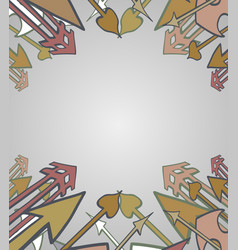 Collage frame vector