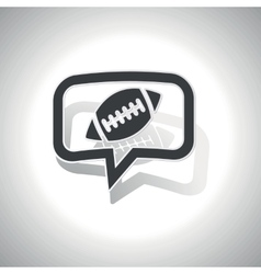 Curved rugby message icon vector