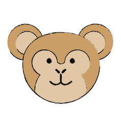 Cute monkey or stuffed animal icon image vector
