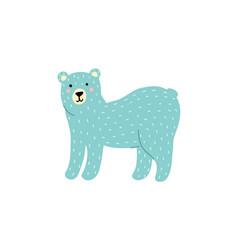 cute polar bear isolated element funny arctic vector image
