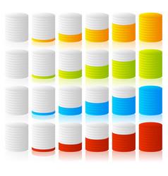 Cylinder completion fullness or progress vector