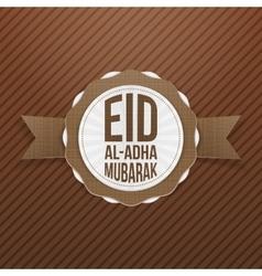 Eid al-Adha Mubarak greeting Tag vector