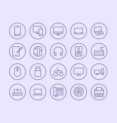 Electronics technology store line icon vector