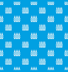 fence village pattern seamless blue vector image
