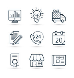 finance set for business and commerce eps 10 vector image