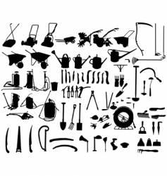 Garden instruments vector