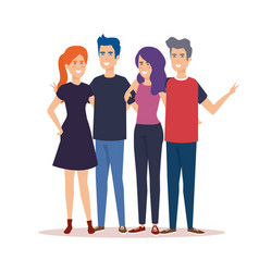 Group people characters vector