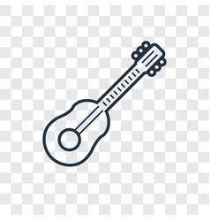 guitar toy concept linear icon isolated on vector image
