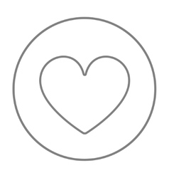 Heart sign line icon vector image