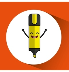 Highlighter pen character design vector