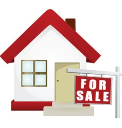 Home for sale icon vector