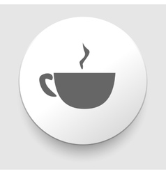 Hot coffee cup on saucer vector