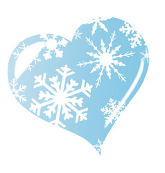 ice heart vector image