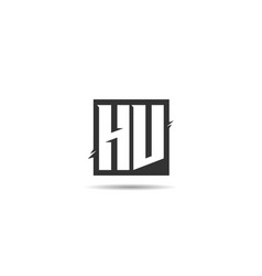 initial letter hv logo template design vector image