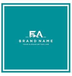 Letter fa mountain logo design vector