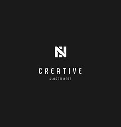 Letter n creative business logo design vector