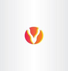 letter v fire logo icon vector image