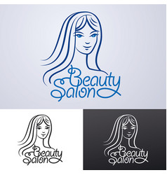 logo for beauty salon vector image