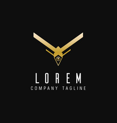 luxury drone technology logo design concept vector image