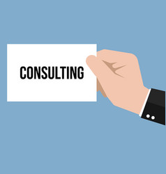 Man showing paper consulting text vector