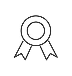 medal line icon on a white background vector image