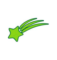 Meteor shower sign lemon scribble icon on vector