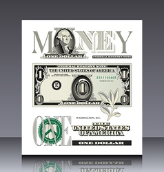 Miscellaneous us bill elements vector