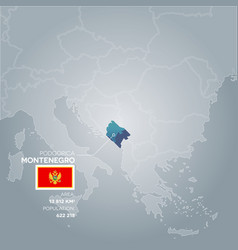 montenegro information map vector image