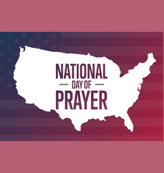 National day prayer holiday concept template vector
