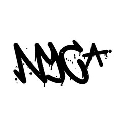 New york graffiti tag vector