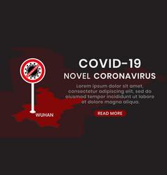 Novel coronavirus 2019-ncov outbreak warning vector