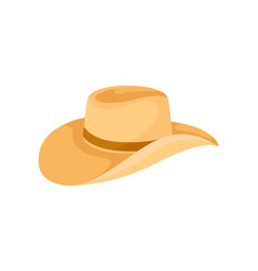 orange hat with wide curved brim for men vector image
