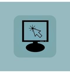 Pale blue arrow cursor monitor vector