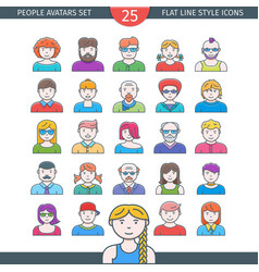 people avatars icons vector image