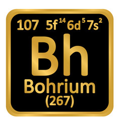Periodic table element bohrium icon vector