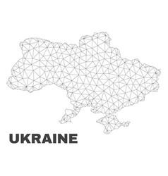 Polygonal mesh ukraine map vector
