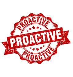 Proactive stamp sign seal vector