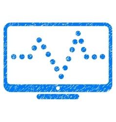 Pulse Chart Grainy Texture Icon vector