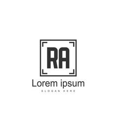 Ra logo template design initial letter logo design vector