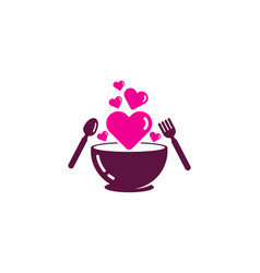 Romance food logo icon design vector